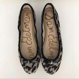 Sam Edelman Felicia leopard print flats, 8.5 - NEW